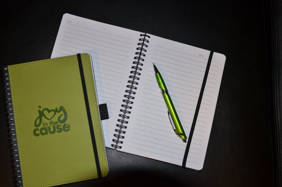 Image of NEW!  Joy In The Cause Embossed Logo Notebook/Journal {with optional Pen}