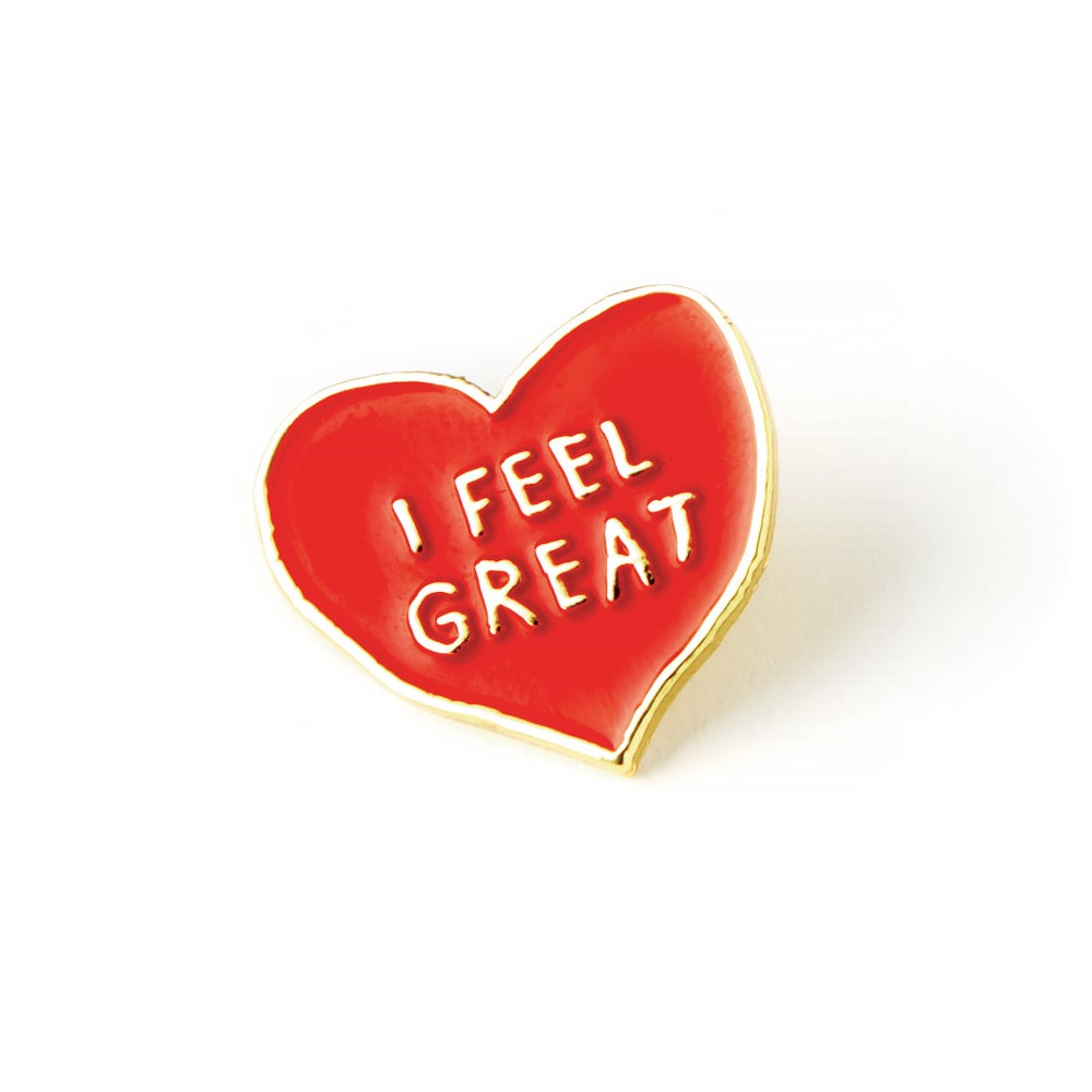 Image of I FEEL GREAT Enamel Pin