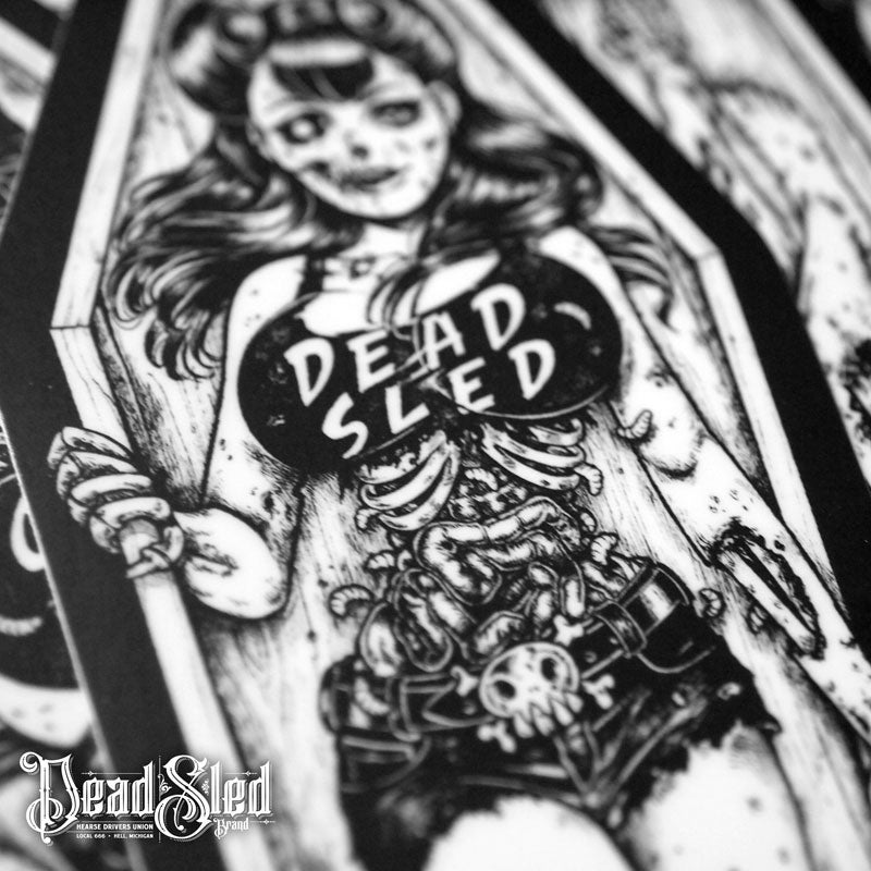 Image of Dead Sled Dame 7-inch Die-Cut Vinyl Sticker