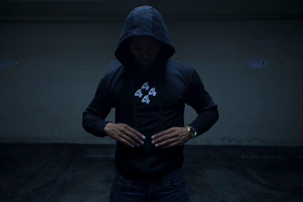 Image of 4444 THE LOW BLACK PULL OVER HOODIE
