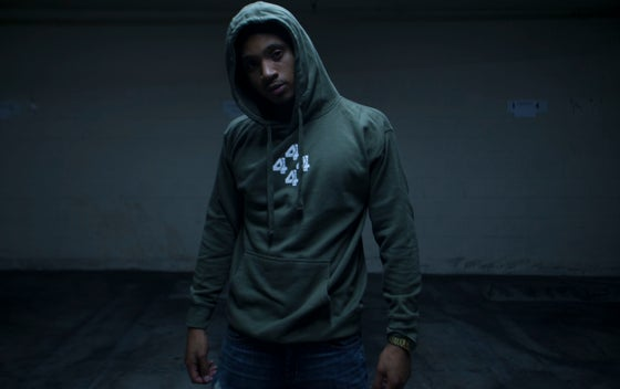 Image of 4444 THE LOW OLIVE GREEN PULL OVER HOODIE