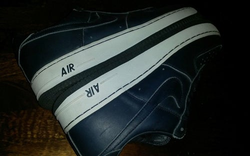 Image of RARE NIKE AIR FORCE I LEBRON JAMES PROMO NAVY