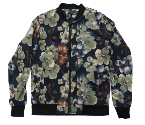 Image of Corduroy Floral Bomber
