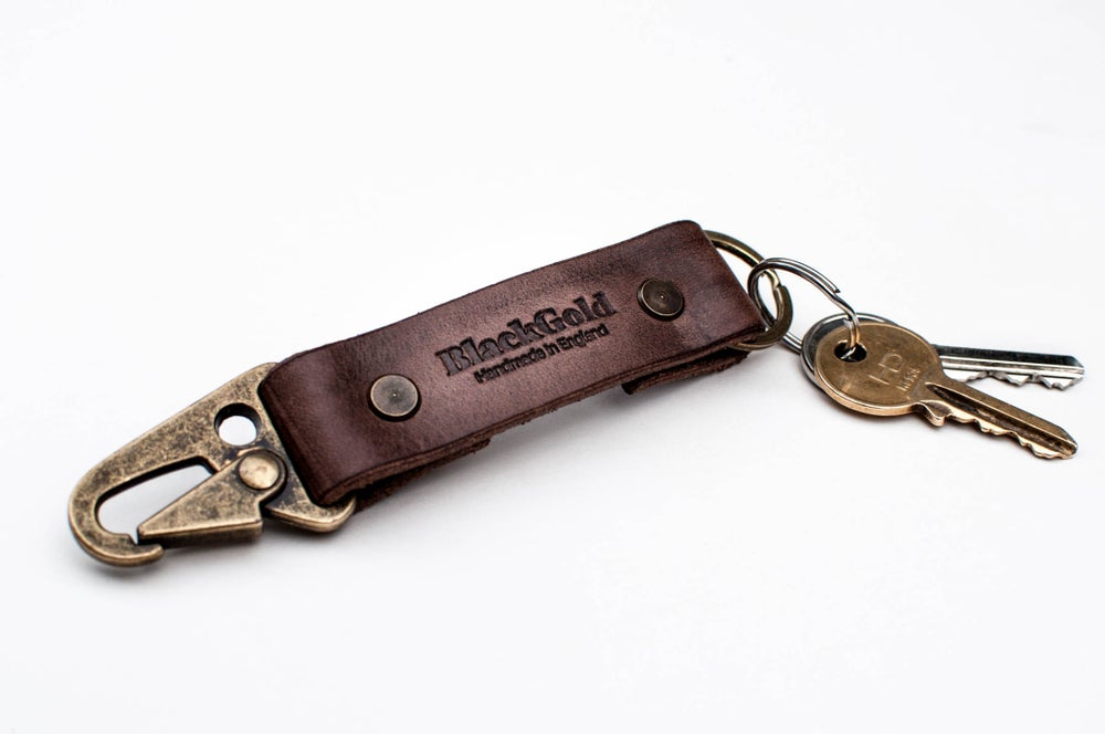 Image of 'Oil Slinger' Keyring Lanyard - Burnt Umber