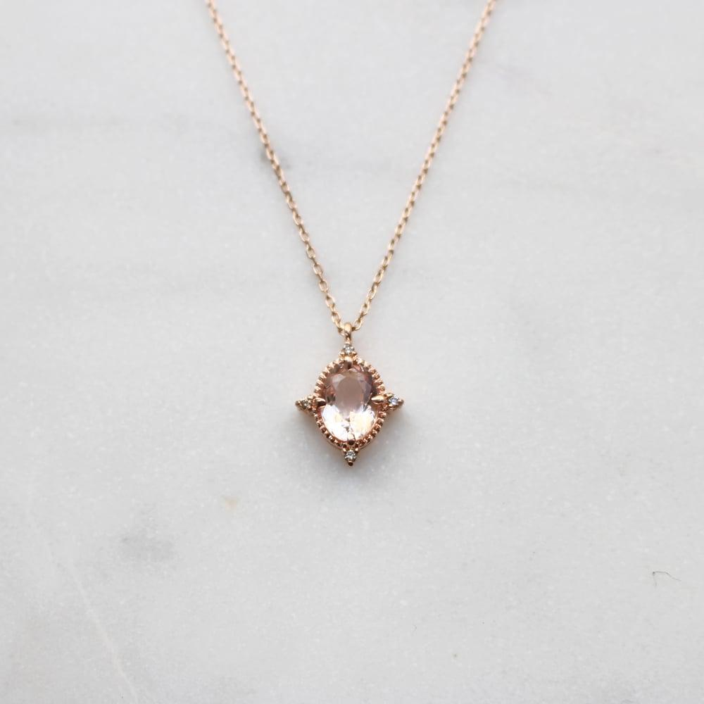 Image of Victorian Morganite Pendant Necklace