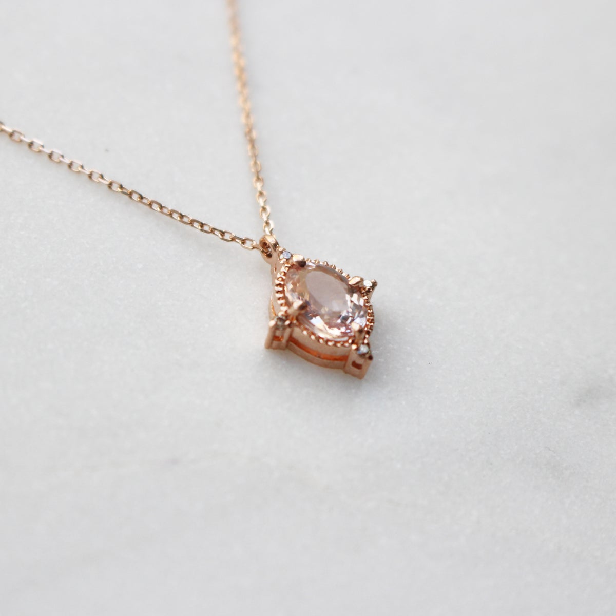 Image of Victorian Morganite Pendant Necklace