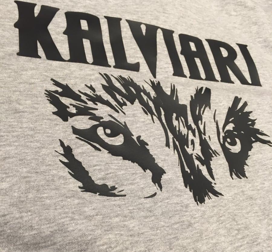 Image of KALVIARI SAMOWOLF MENTALITY ZIP HOODIE (WOLFGREY)