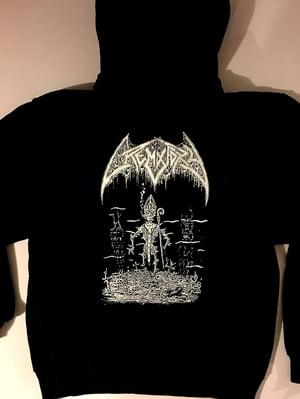 """Image of Crematory """" Pope """" Hooded Sweatshirt"""