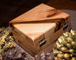 Image of Reclaimed Wood Custom Jewelry Keepsake Box, Rustic Gift Box, Anniversary Gift, Wooden Treasury Box