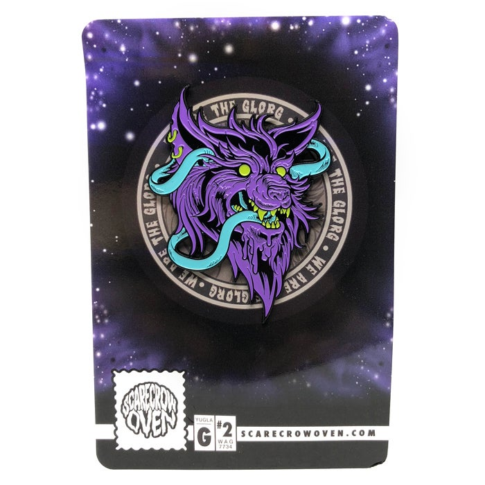 Image of WOLF WORM ENAMEL PINS