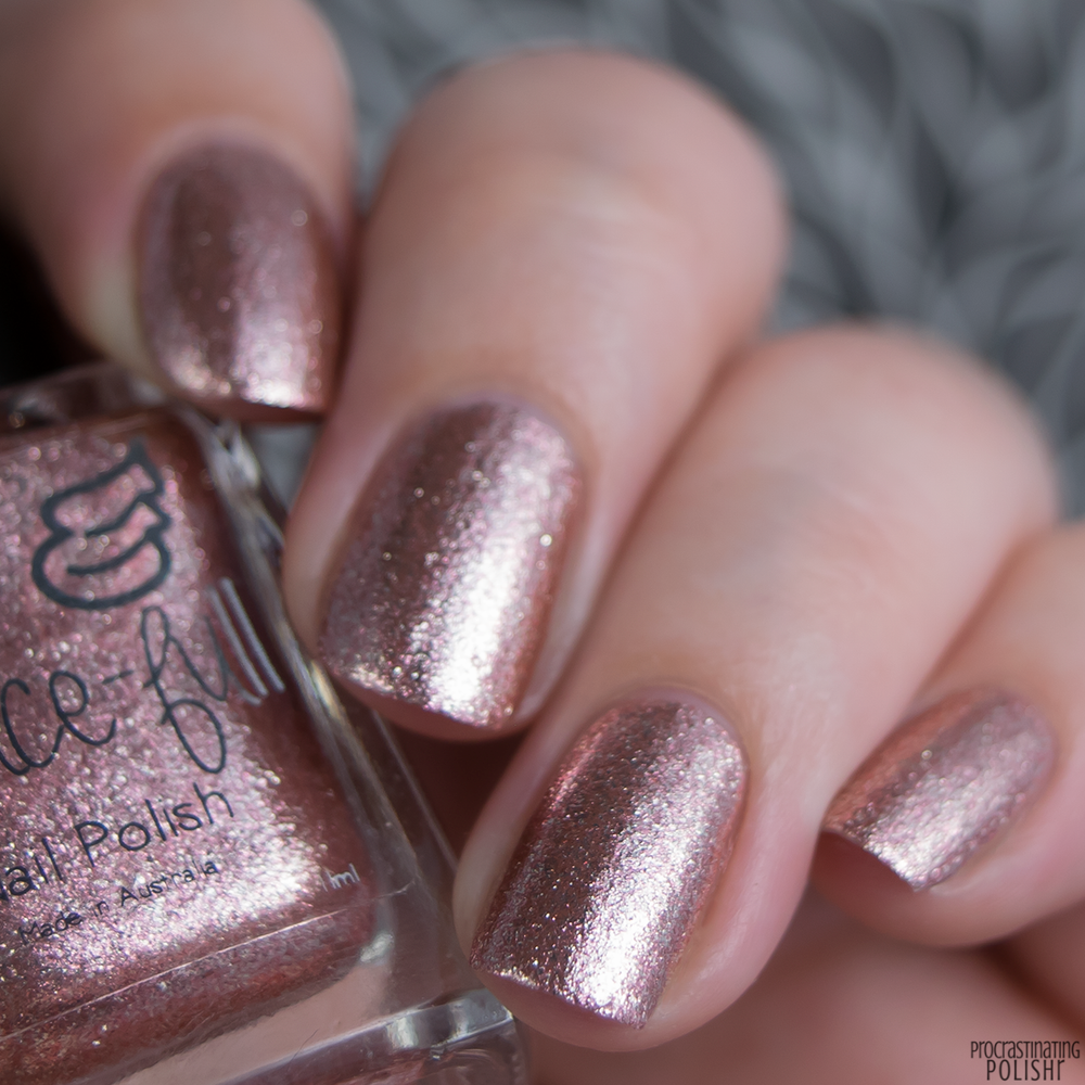 Grace-full Nail Polish — Rosy Glow - Rose Gold and Silver micro ...