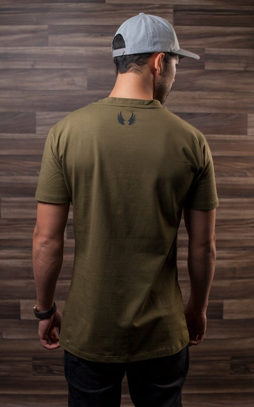 Image of Give Rise Tactical T-Shirt :: OD Green