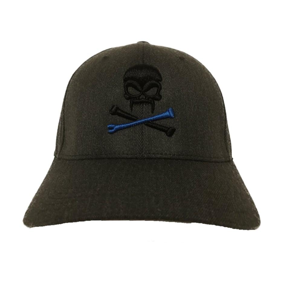 Image of Sonkei Blue 3D Puff Gray FlexFit hat