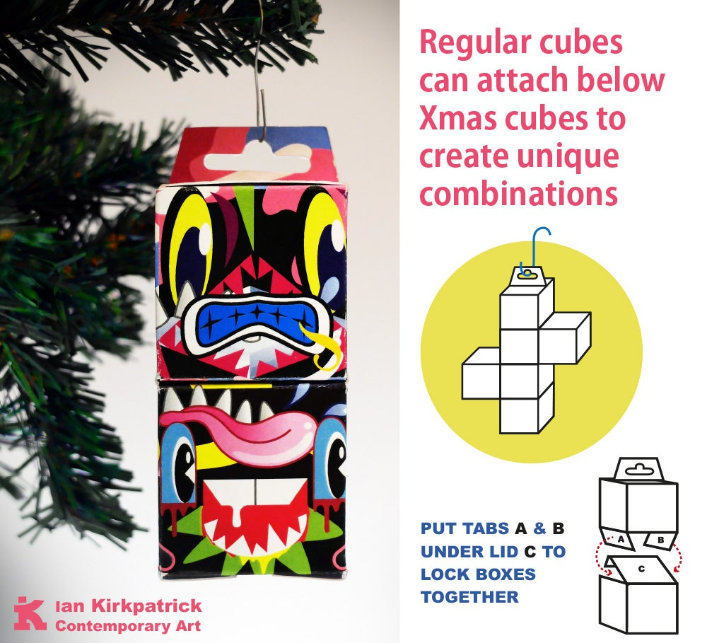 Image of Hanging Xmas Cubes (3 pack)