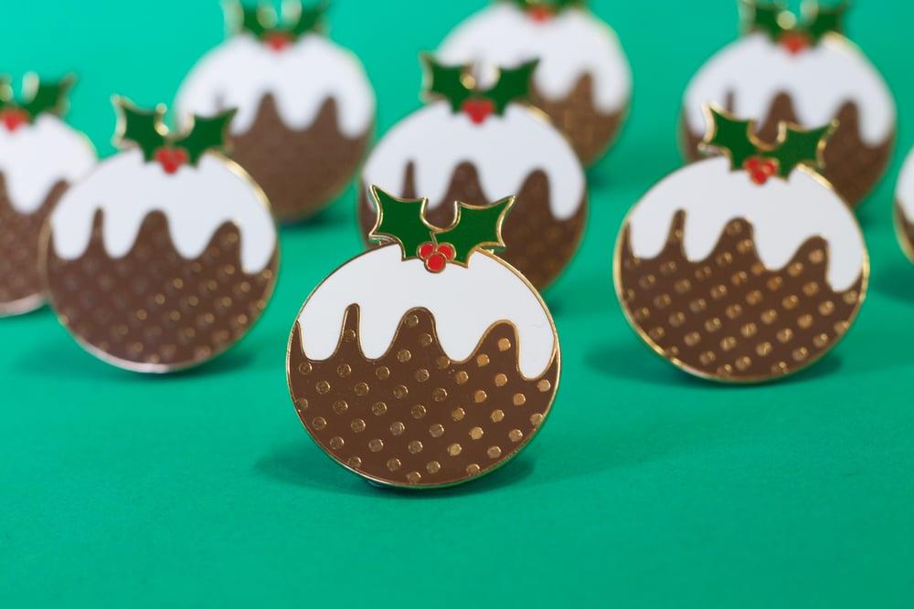 Image of Christmas Pudding Enamel Pin