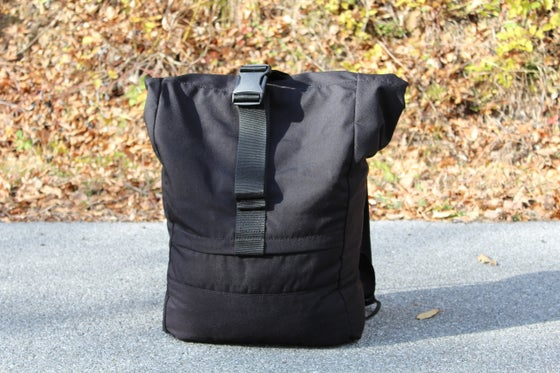 Image of WOW MAX Rolltop Black Cordura Backpack