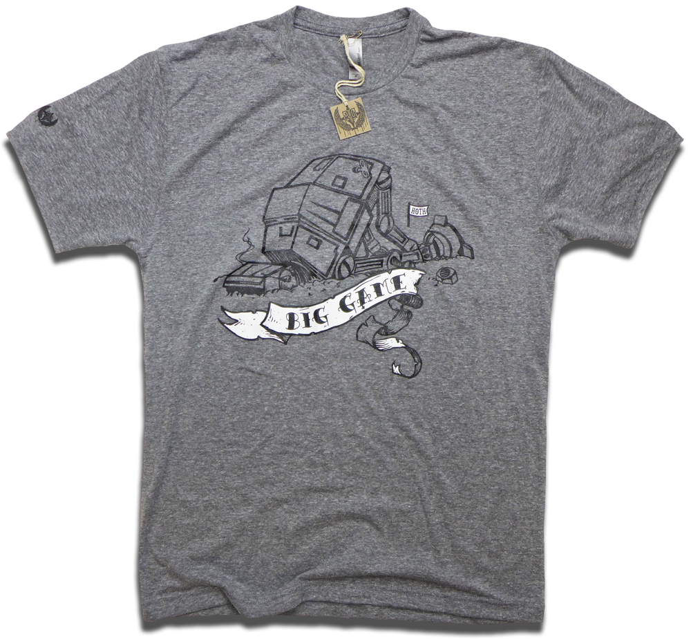 "Image of ""Big Game Hoth Hunters"" Star Wars AT-AT tee"