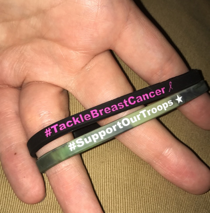 Image of Support Our Troops & Tackle Breast Cancer bands