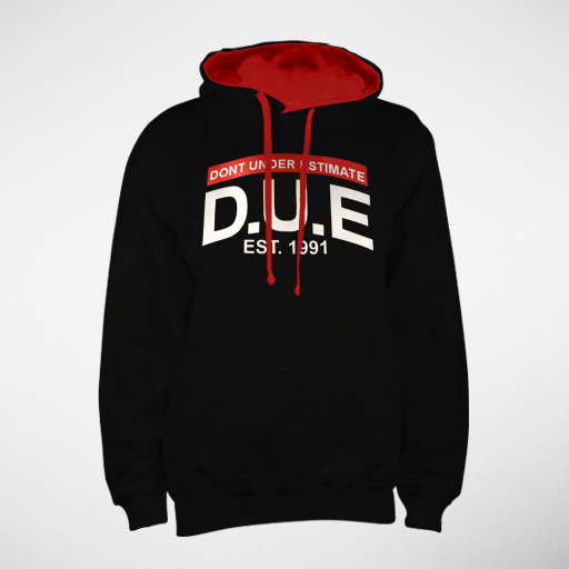Image of Black D.U.E. Hoodie