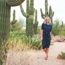 Image 1 of Women's Navy Cactus Knot Knit Dress