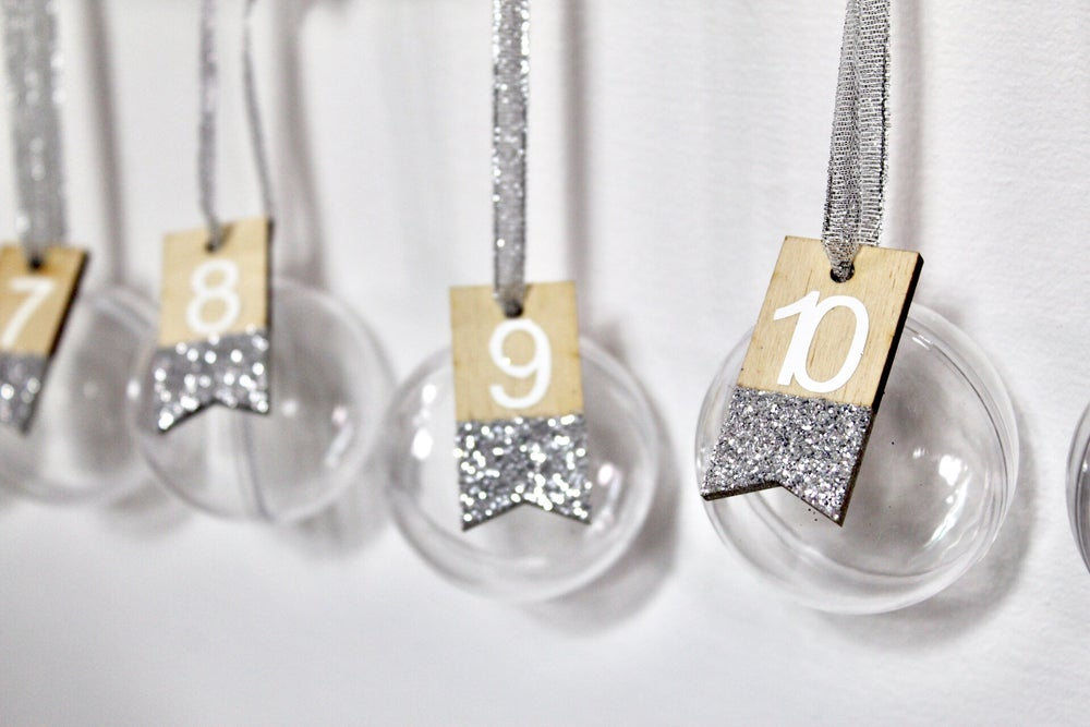 Image of 1st Christmas set - banner and numbered baubles