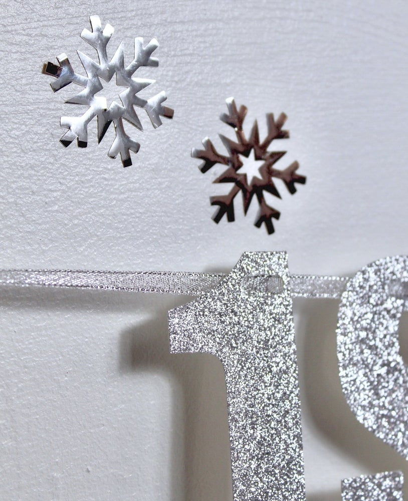 Image of Mirror snowflake decal set