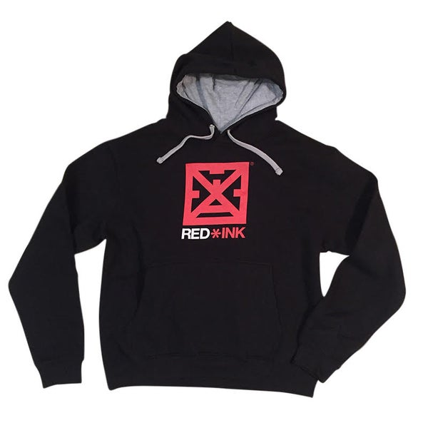Image of SUDADERA UNISEX NEGRA BASIC RED*INK