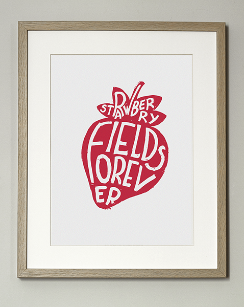 Image of Affiche Strawberry Fields