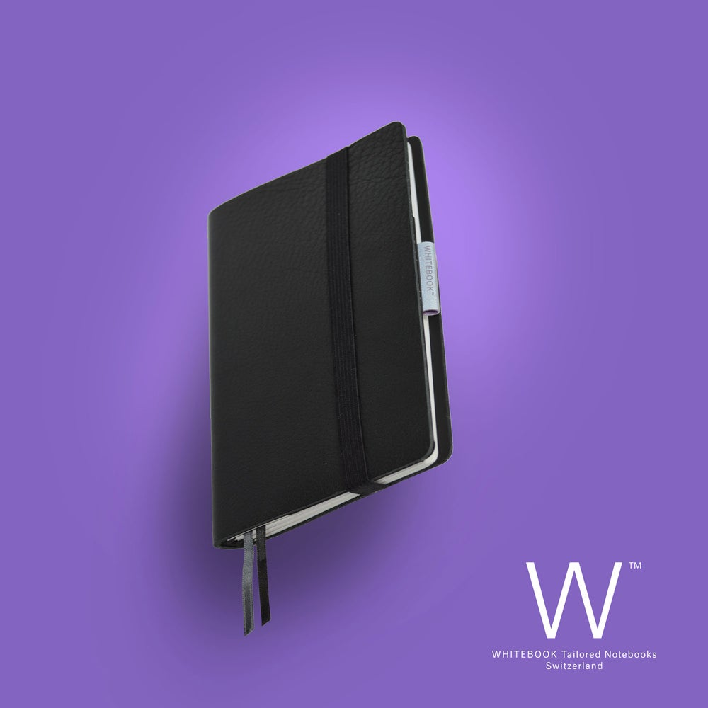 Image of WHITEBOOK MOBILE S201, soft french calf leather, black