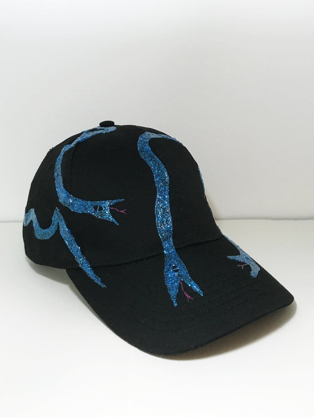 Image of Five Iced Out Snakes, Hand-painted Cap