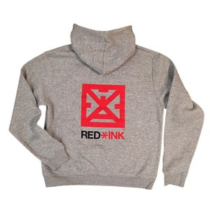 Image of SUDADERA UNISEX GRIS RED*INK CONCEPT