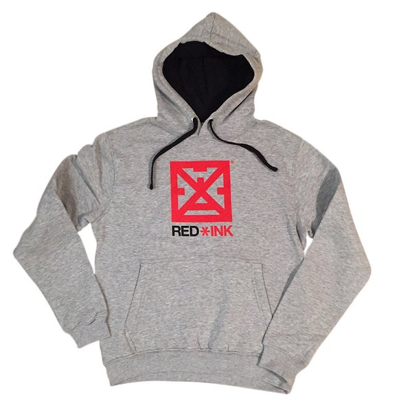Image of SUDADERA UNISEX GRIS BASIC RED*INK