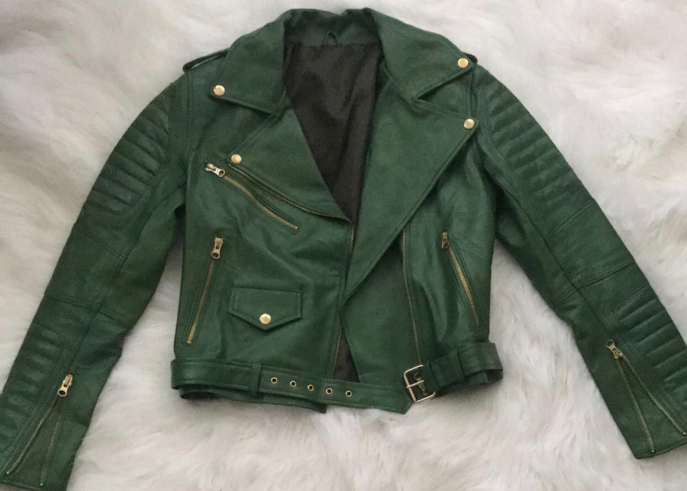 Image of Chamber leather jacket