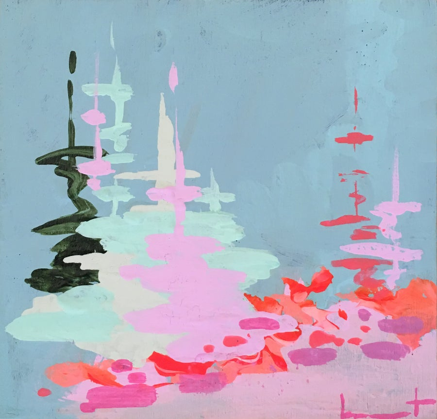 Image of Tiny Painting No. 66 (providence blue, lilac)