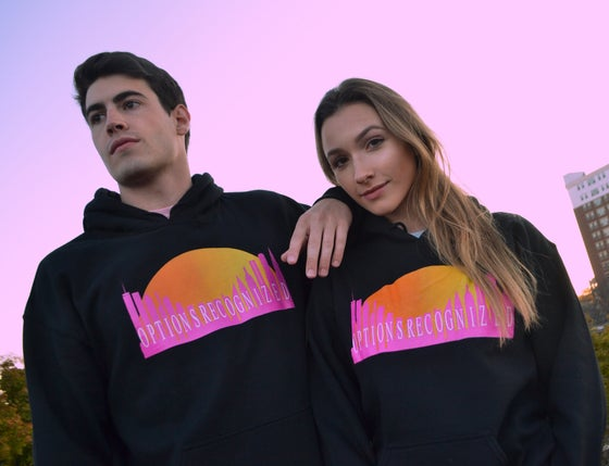 "Image of ""SUNRISE"" BLACK HOODIE"