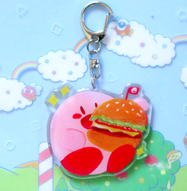 Image of Kirby Burger Charm!!