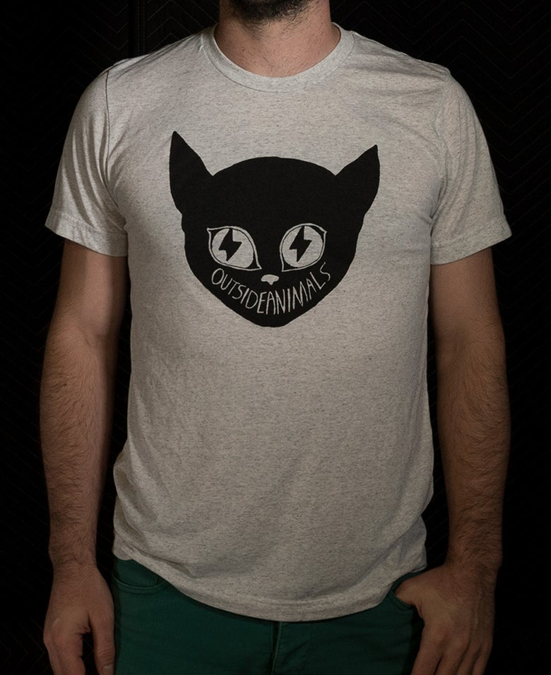 Image of Outside Animals Cat Head Tee