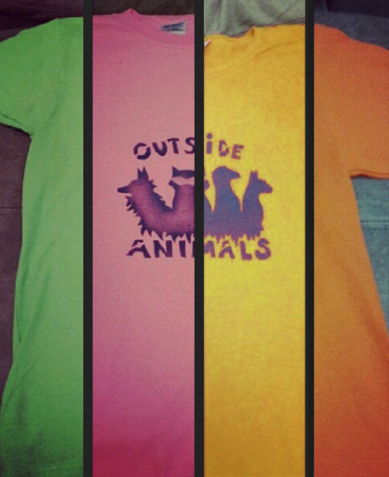 Image of Outside Animals Colored Tee