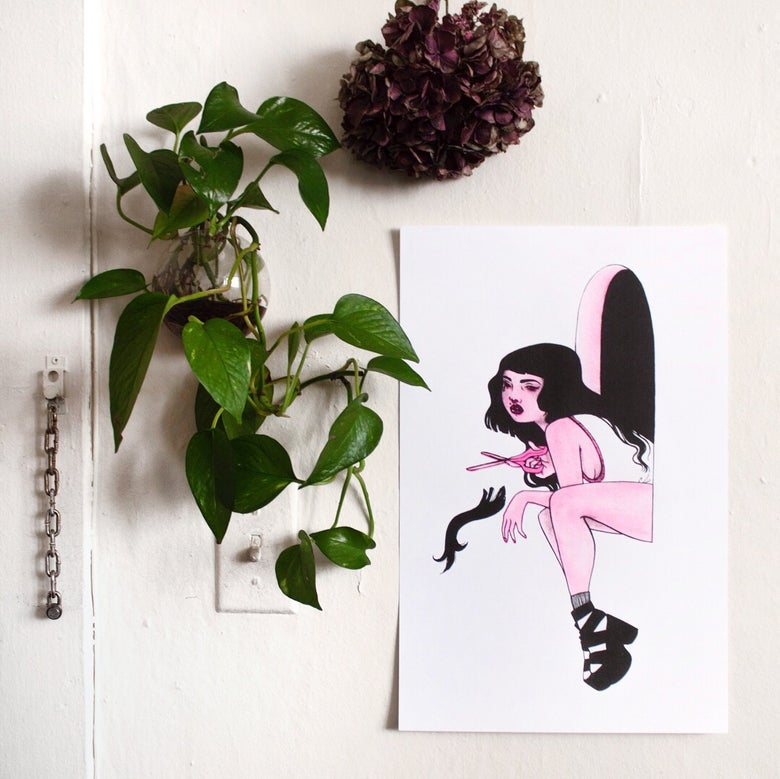 Image of I Cried Into That Hair risograph print
