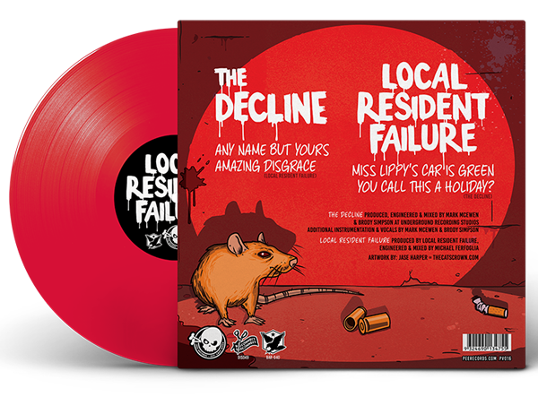 "Vinyl 7"" Split EP - The Decline vs Local Resident Failure"