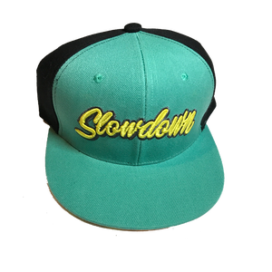 Image of Slowdown Snap back Turquoise yellow tiger