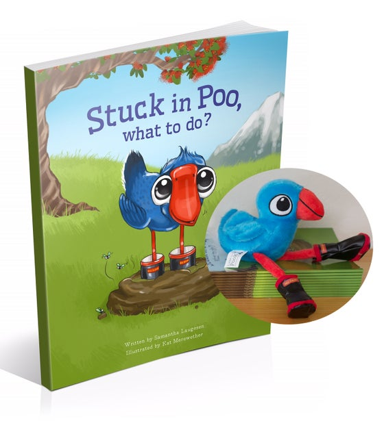 Image of Stuck in Poo, What to do? Book & Luke the Pook Soft Toy