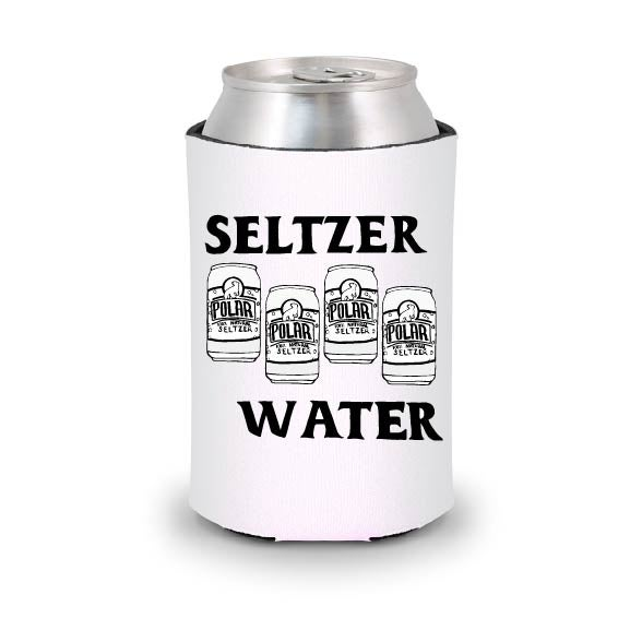 Image of Seltzer Water Koozie - White
