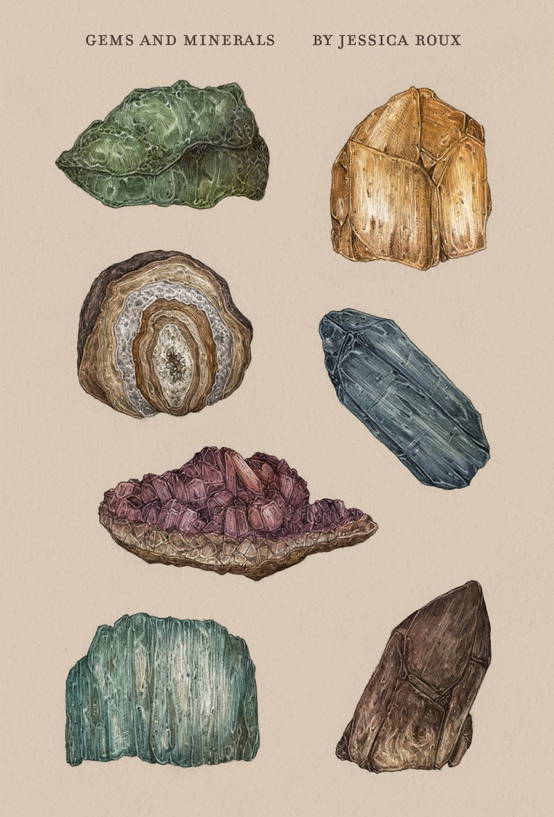 Image of Gems and Minerals Sticker Sheet