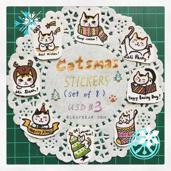 Image of Catsmas Sticker Set