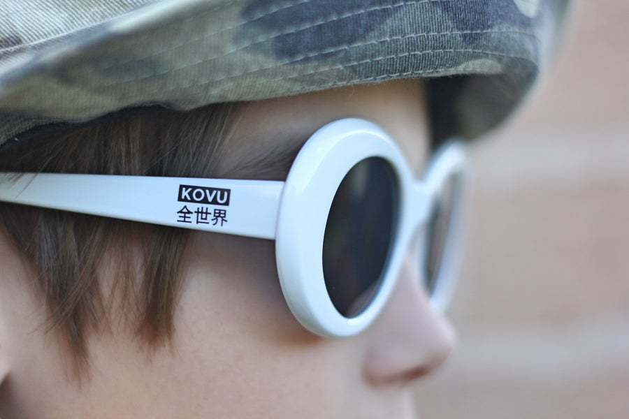 "Image of ""KOVU CLOUT GOGGLES"" ""White"""
