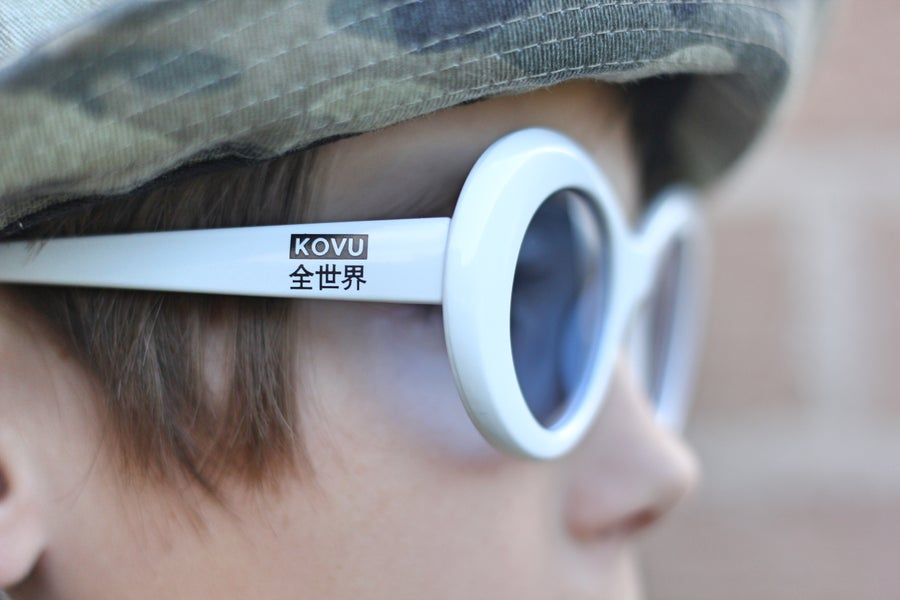"Image of ""KOVU CLOUT GOGGLES"" ""White & Blue"""