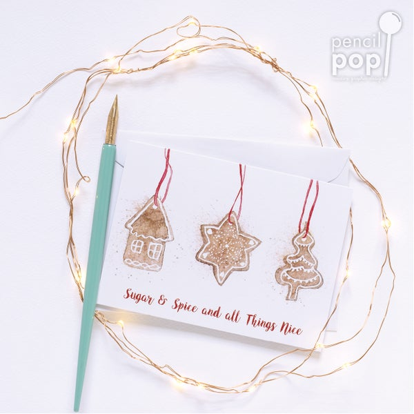 Image of Spice Biscuits - Christmas Greeting Card