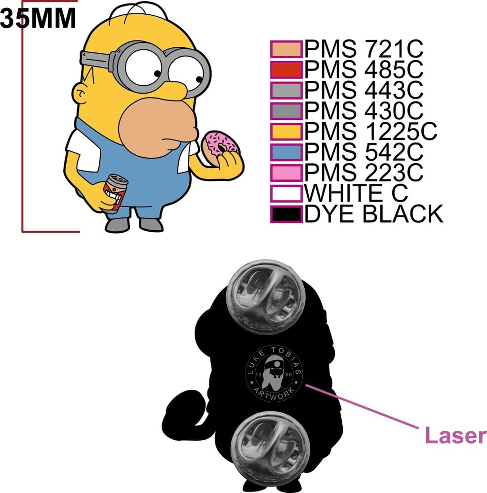 Image of Homer Minion Soft Enamel Pin