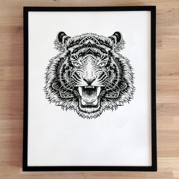 Image of Sérigraphie, série 7 ex  / Tigre